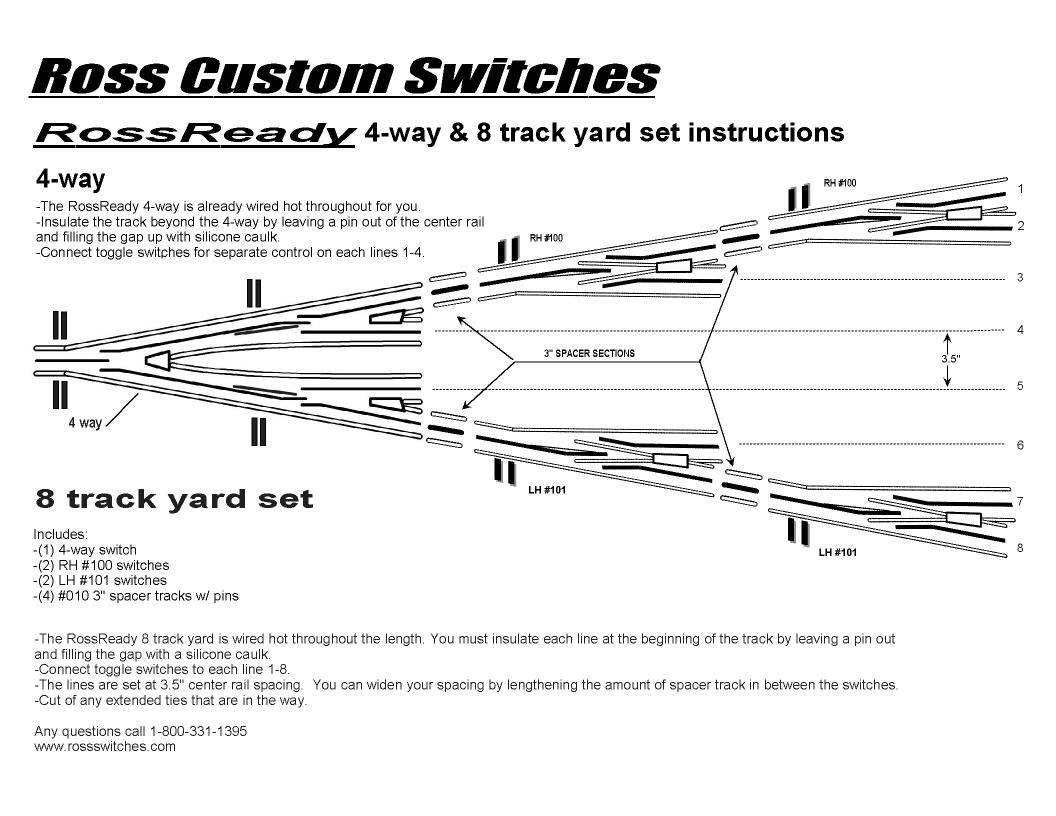 Technical 4 Way Switch Schematic 8 Track Yardset