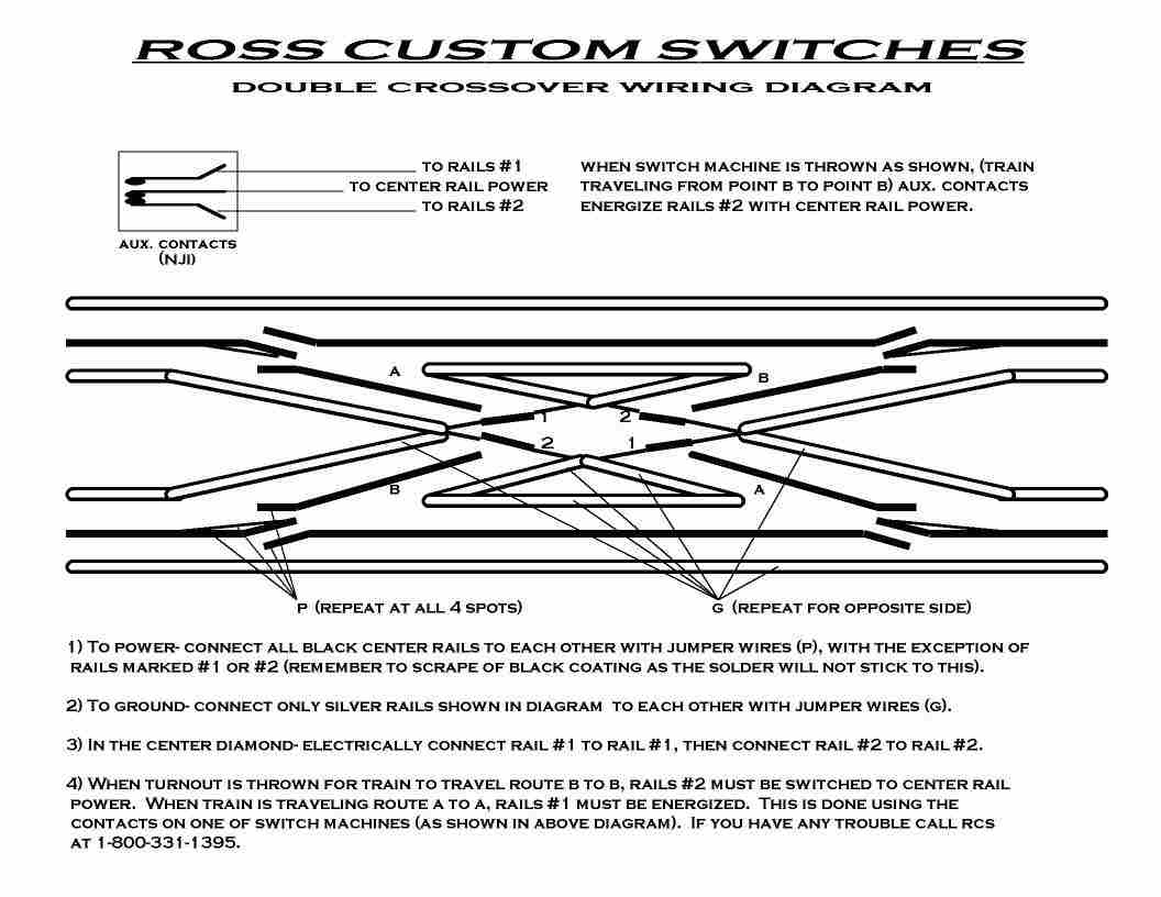 Technical Model Railroad Wiring Diagrams 4 Way 8 Track Yardset